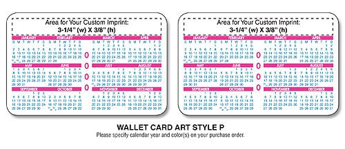 Promotional laminated wallet cards wallet calendar cards card 2 year calendar colourmoves Images